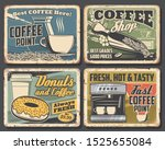 coffee drink rusty metal... | Shutterstock .eps vector #1525655084