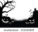 scary pumpkin halloween... | Shutterstock .eps vector #152565839