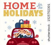 happy holidays hand drawn... | Shutterstock .eps vector #1525702301