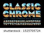 vector alphabet of vintage... | Shutterstock .eps vector #1525705724
