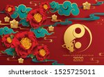 happy chinese new year 2020... | Shutterstock .eps vector #1525725011