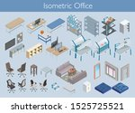set of office items in... | Shutterstock .eps vector #1525725521