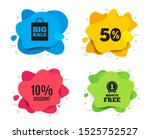 10  discount. liquid shape ... | Shutterstock .eps vector #1525752527