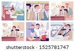 everyday stress flat vector... | Shutterstock .eps vector #1525781747