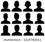 silhouette avatars. persons... | Shutterstock .eps vector #1525782011