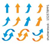 vector popular arrow sticker...