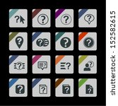 help icon set | Shutterstock .eps vector #152582615