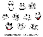 cartoon faces set with... | Shutterstock .eps vector #152582897