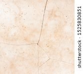 Old And Worn Cracked Tile With...