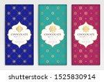 luxury packaging design of... | Shutterstock .eps vector #1525830914