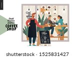 coffee shop  small business... | Shutterstock .eps vector #1525831427