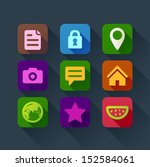 colorful flat design icons for...