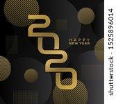 luxury happy new 2020 year.... | Shutterstock .eps vector #1525896014