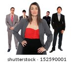 business team over white...   Shutterstock . vector #152590001