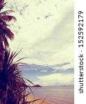 tropic beach palms | Shutterstock . vector #152592179