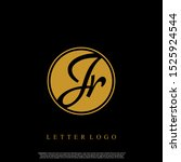 letter jr logo initial emblem...   Shutterstock .eps vector #1525924544