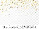 gold confetti. celebration... | Shutterstock .eps vector #1525957634