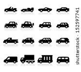 cars icons three | Shutterstock .eps vector #152597741