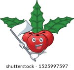 with flag christmas holly berry ... | Shutterstock .eps vector #1525997597