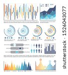 infographics and pie diagrams... | Shutterstock . vector #1526043077