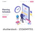 schedule planning concept. flat ...