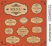 vintage label style frame... | Shutterstock .eps vector #152605121