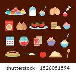 sweet bakery icon set design ... | Shutterstock .eps vector #1526051594