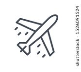 plane line icon. aircraft and... | Shutterstock .eps vector #1526091524