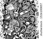cartoon doodles italian food...   Shutterstock . vector #1526100857