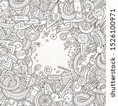 cartoon cute doodles hand drawn ... | Shutterstock . vector #1526100971
