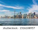 Toronto Skyline On Sunny Summer ...