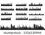 big set modern city skyline... | Shutterstock .eps vector #1526130944