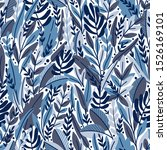 seamless pattern with tropical... | Shutterstock .eps vector #1526169101