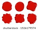 wax stamps vector icons.... | Shutterstock .eps vector #1526179574