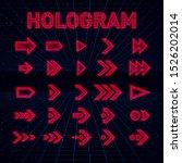 retrofuturistic hologram hud... | Shutterstock .eps vector #1526202014