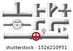 stainless steel parts  metallic ... | Shutterstock .eps vector #1526210951