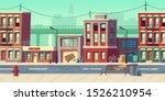 dirty city street  empty ghetto ... | Shutterstock .eps vector #1526210954