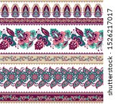 set of oriental colorful floral ... | Shutterstock .eps vector #1526217017