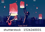 happy diwali festival with oil... | Shutterstock .eps vector #1526260031