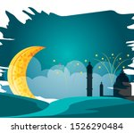 ramadan kareem moon crescent... | Shutterstock .eps vector #1526290484