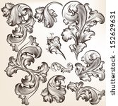 vector set of calligraphic...   Shutterstock .eps vector #152629631