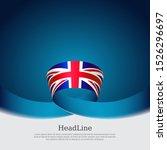 great britain flag background.... | Shutterstock .eps vector #1526296697