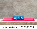 Tile Letter On Red Rack In Word ...