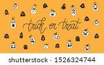 happy halloween banner with... | Shutterstock .eps vector #1526324744