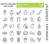 fruits and vegetables line icon ... | Shutterstock .eps vector #1526325167