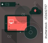 flat design ui device abstract...