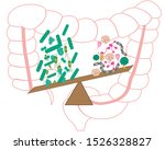 intestinal bacteria flora. good ... | Shutterstock .eps vector #1526328827