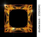 beautiful gold picture frame on ... | Shutterstock . vector #15263341
