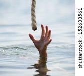 saving a drowning man  | Shutterstock . vector #152633561