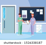male medicine workers with... | Shutterstock .eps vector #1526338187